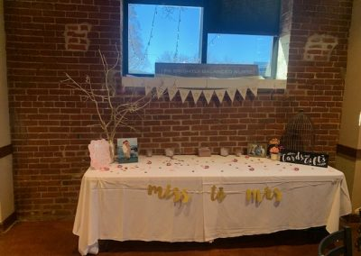 table setup in private event room